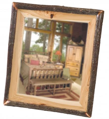 "Hickory 48"" Log Mirror"