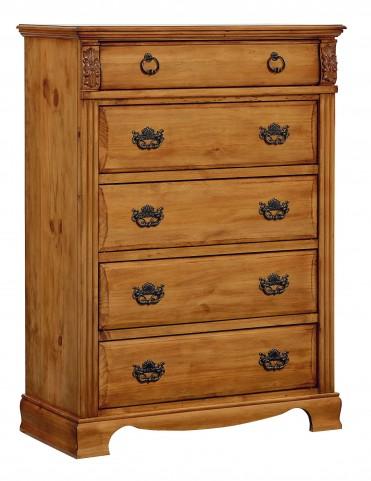 Georgetown Golden Honey Pine Drawer Chest