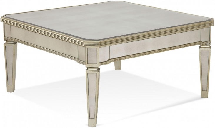 Borghese Mirrored Square Cocktail Table