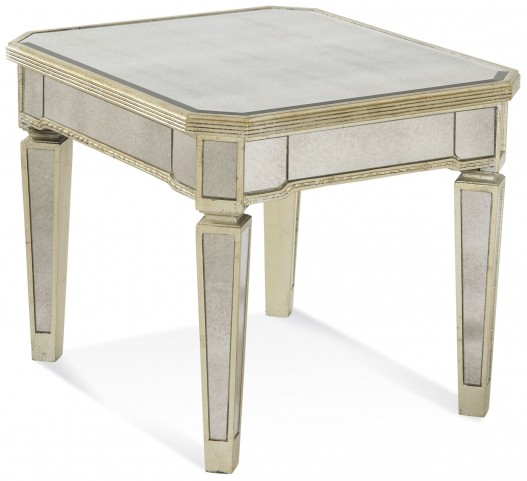 Borghese Mirrored Rectangular End Table