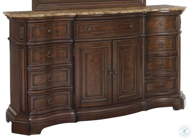 Edington Brown Door Dresser