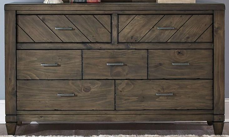 Modern Country 7 Drawer Dresser