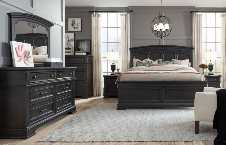 271ee4cc6820 Townsend Dark Sepia Arched Panel Bedroom Set from Legacy Classic | Coleman  Furniture