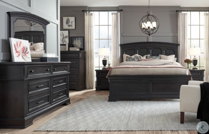 Townsend Dark Sepia Arched Panel Bedroom Set