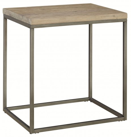 Alana Acacia Wood Top Rectangular End Table