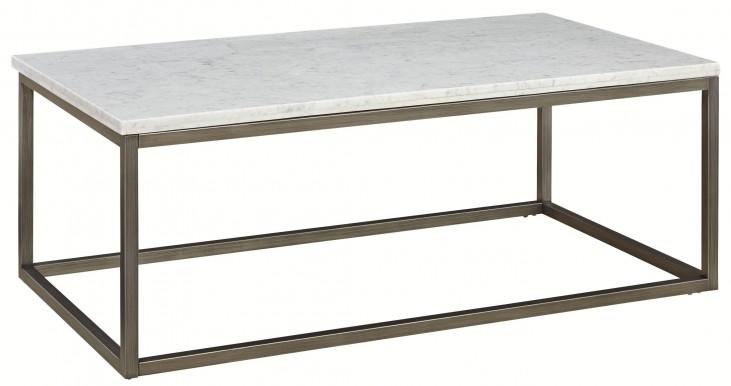 Alana Acacia Marble Top Rectangular Coffee Table