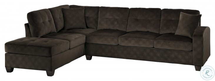 Emilio Chocolate 2 Piece Sectional