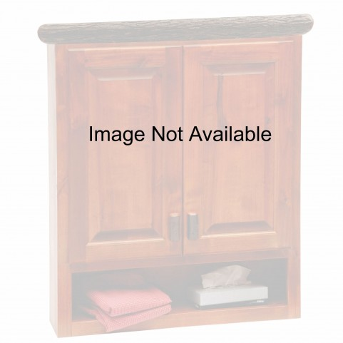 Hickory Rustic Maple Toilet Topper Cabinet