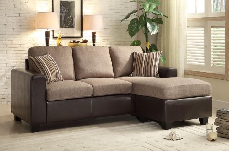 Slater Greyish Brown Reversible Sectional Sofa