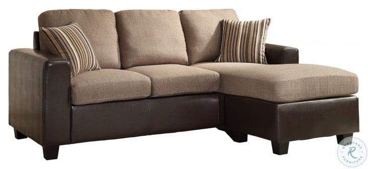 Slater Greyish Brown Reversible Sofa RAF Sectional