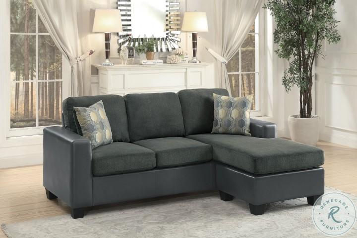 Slater Dark Gray Reversible Sofa Chaise