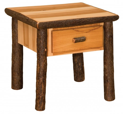 Hickory Traditional One Drawer End Table