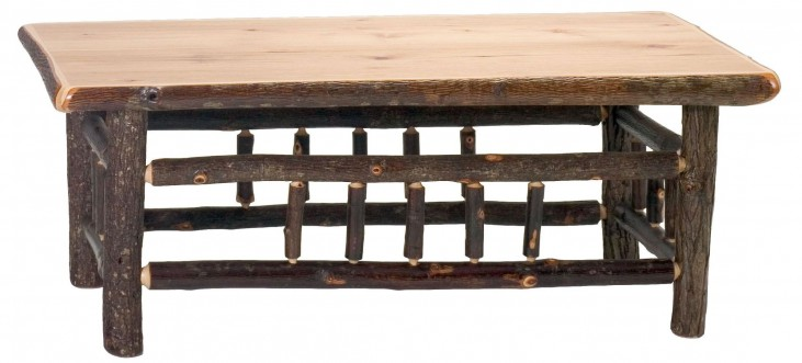 """Hickory 42"""" Open Coffee Table"""