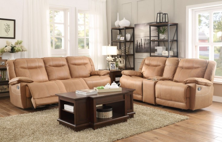 Wasola Brown Triple Reclining Living Room Set