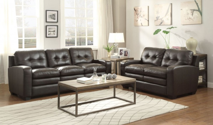Urich Chocolate Living Room Set