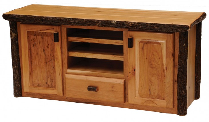 Traditional Hickory Entertainment Center
