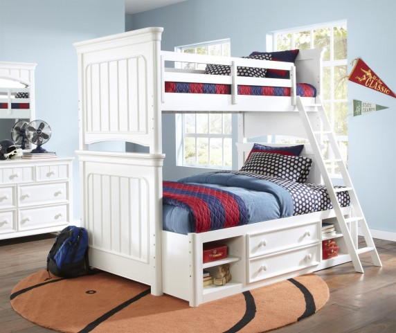 SummerTime Fresh White Bunk Bedroom Set