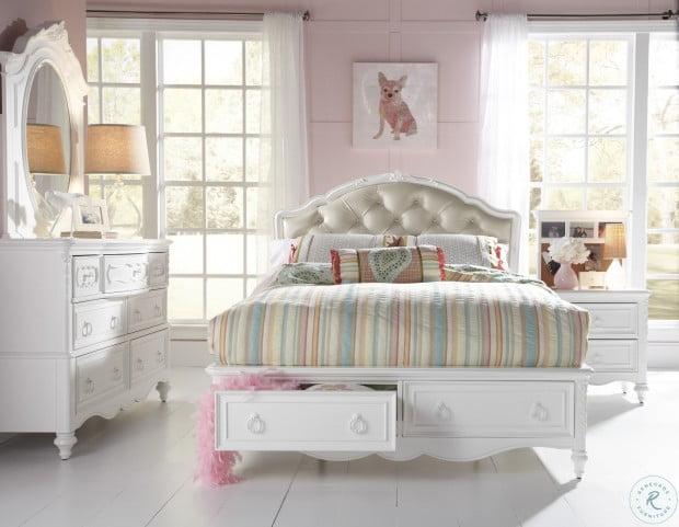 SweetHeart Full Upholstered Storage Bed