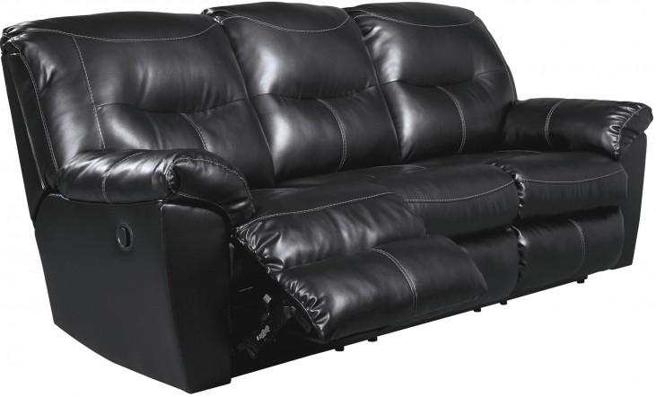 Kilzer DuraBlend Black Reclining Sofa