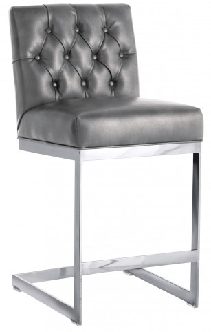 Cavalli Counter Stool In Grey Nobility