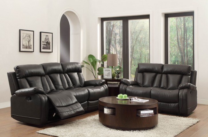 Ackerman Black Reclining Living Room Set