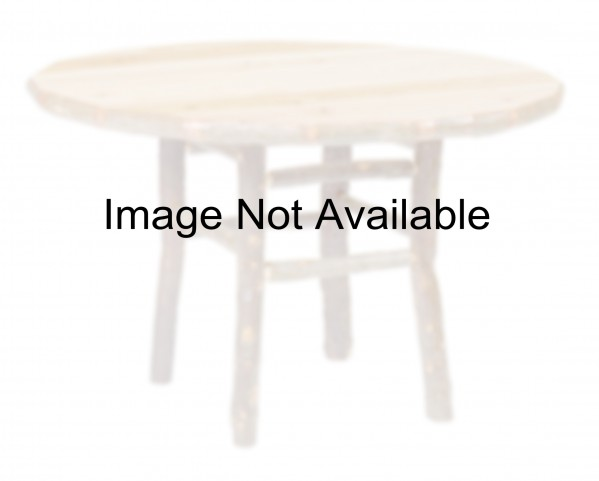 "Hickory Round 48"" Rustic Alder Armor Dining Table"