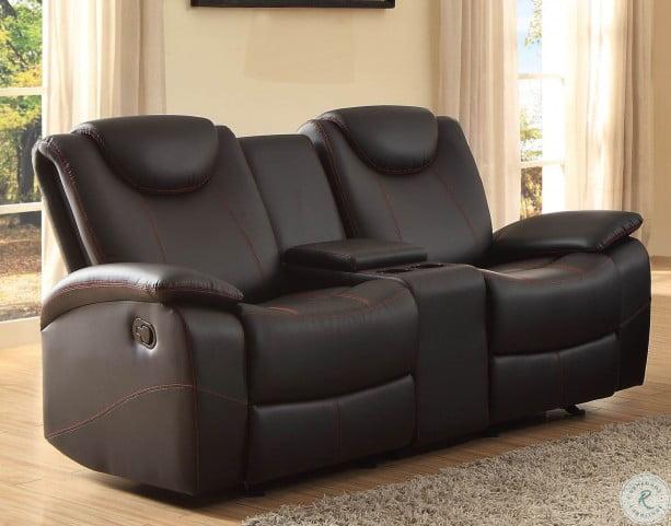 Enjoyable Talbot Black Double Glider Reclining Loveseat With Console Uwap Interior Chair Design Uwaporg