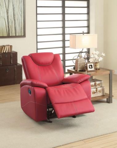 Talbot Red Glider Reclining Chair