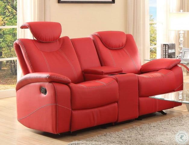 Sensational Talbot Red Double Glider Reclining Loveseat With Console Uwap Interior Chair Design Uwaporg