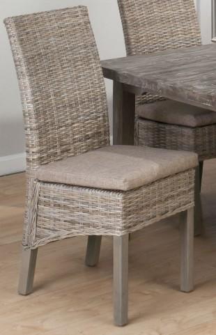 Burnt Grey Kubu Rattan Chair Set of 2