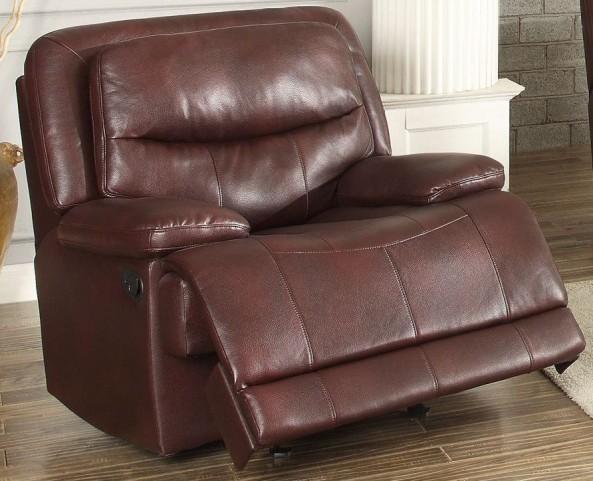 Risco Burgundy Glider Reclining Chair