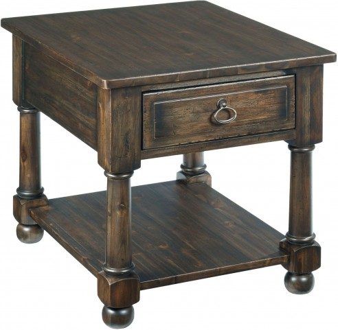 Wildfire Ember Drawer End Table