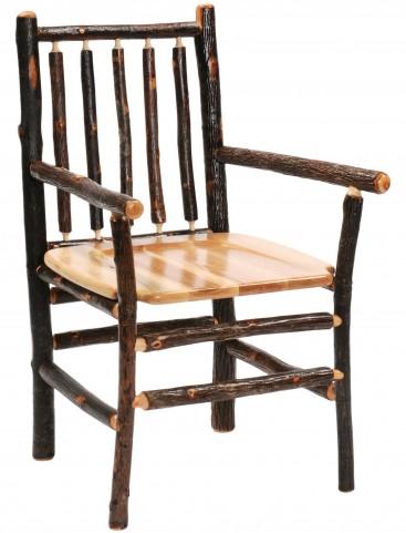 Hickory Spoke Back Arm Chair