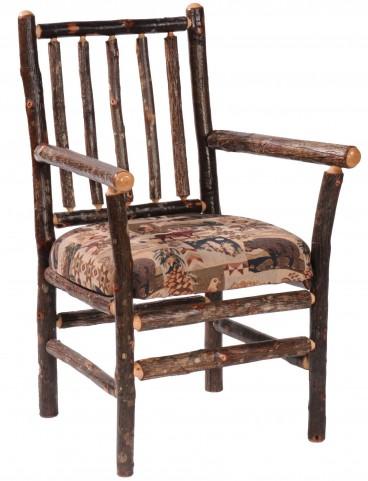 Hickory Standard Fabric Spoke Back Arm Chair