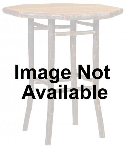 "Hickory 36"" Rustic Alder Standard Round Pub Table"