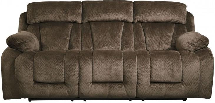 Stricklin Brown Power Reclining Sofa