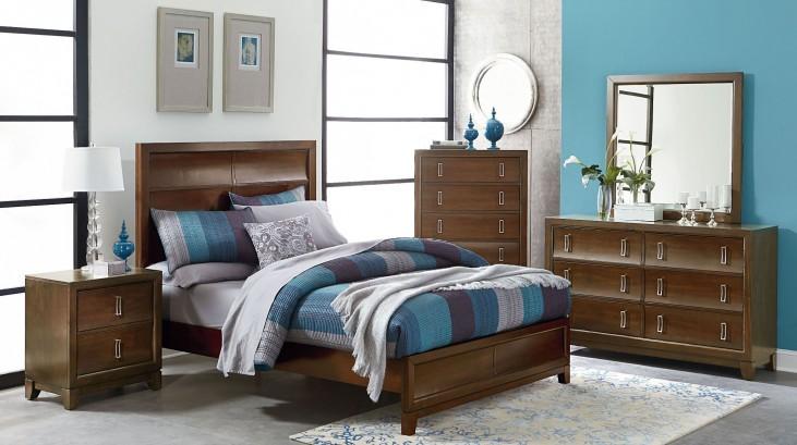Amanoi Warm Mink Panel Bedroom Set