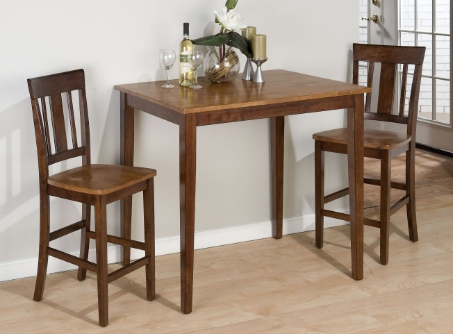 Kura Espresso and Canyon Gold Counter Height Dining Room Set