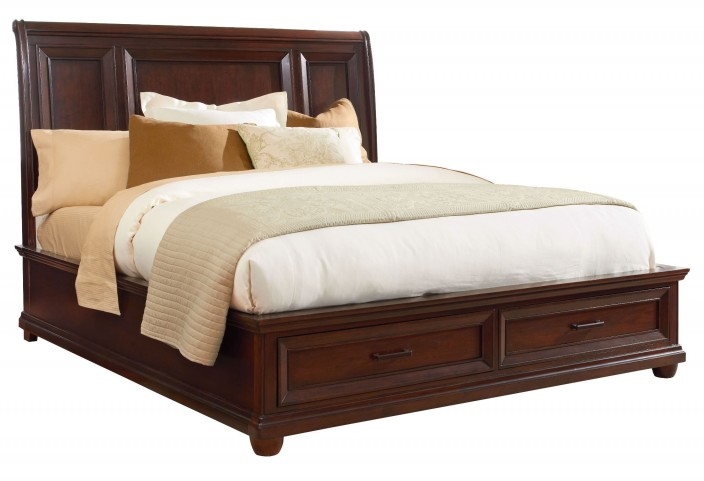 Vineyard Casual Tobacco Queen Platform Storage Bed