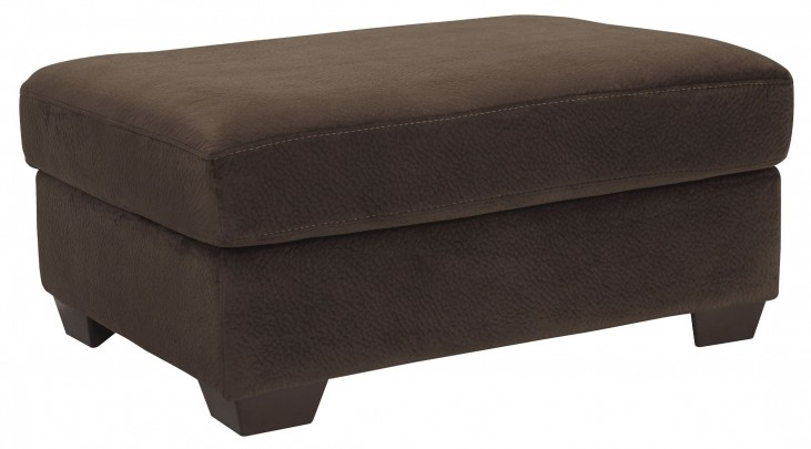 Dahlen Chocolate Oversized Accent Ottoman