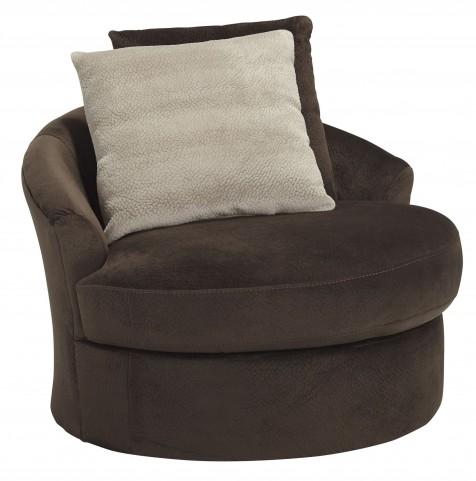 Dahlen Chocolate Swivel Accent Chair