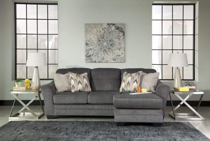 Braxlin Charcoal Sofa Chaise