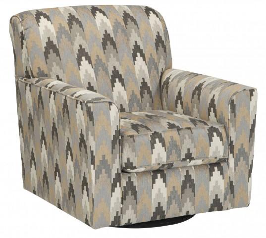 Braxlin Charcoal Swivel Accent Chair
