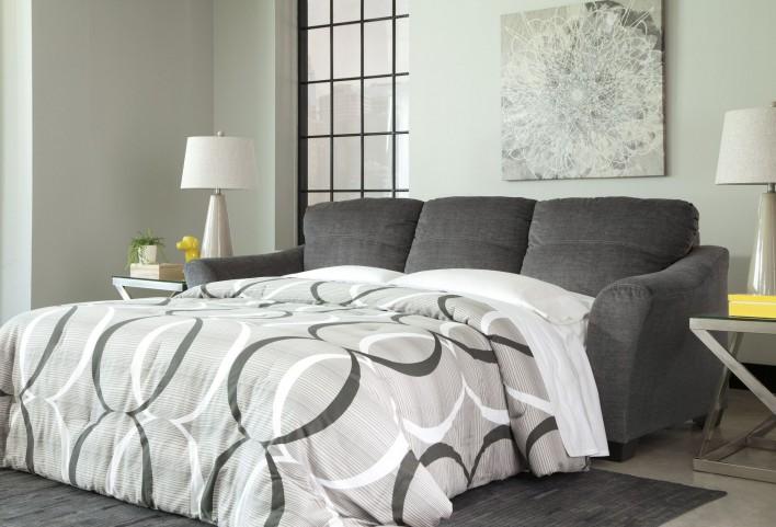 Braxlin Charcoal Queen Sofa Chaise Sleeper