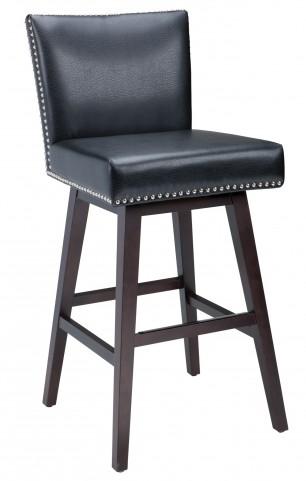 Vintage Black Swivel Barstool