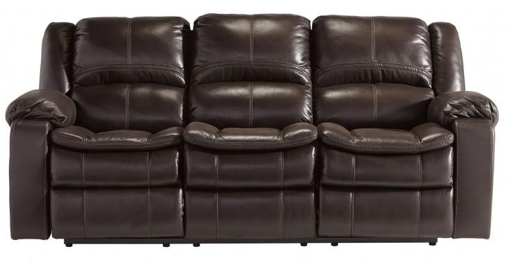Long Knight Brown Reclining Sofa