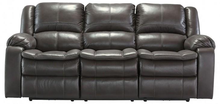 Long Knight Gray Reclining Sofa