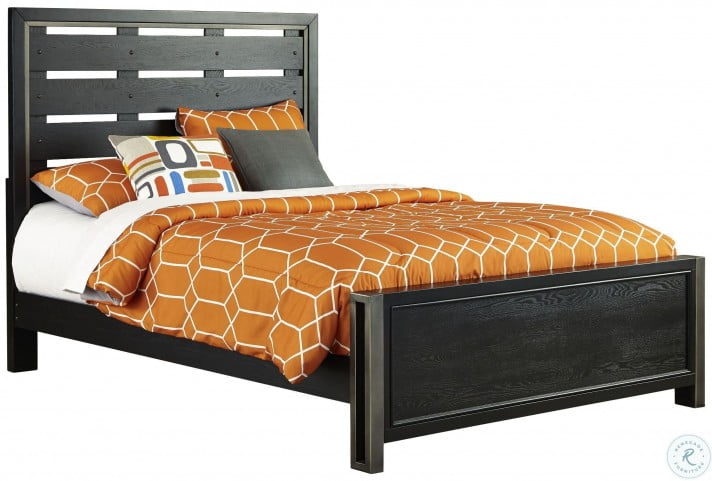 Graphite Twin Panel Bed