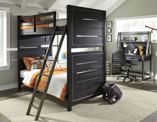 Graphite Twin Over Twin Bunk Bed