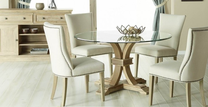 "Devon Stone Wash 54"" Round Dining Room Set with Avery Jute Dining Chairs"